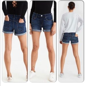 American Eagle Tomgirl Midi Denim Shorts